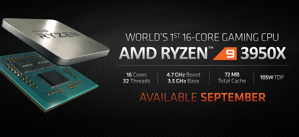 La firma AMD anuncia Ryzen 9 3950X y las tarjetas gráficas Navi RX 5700 XT